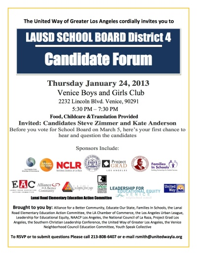 School Board Flyer District 4