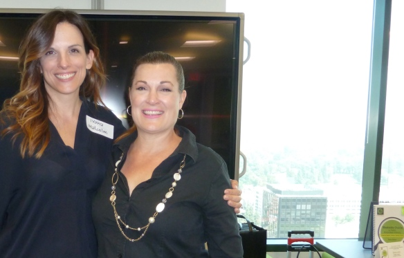GoMamaGuide's Tanya Anton with Ivana Malcolm of NBCUni's Super Moms parent networking group.