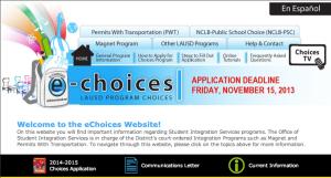 eChoices screenshot
