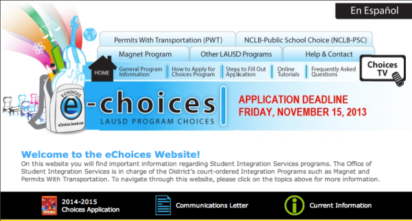 eChoices screenshot