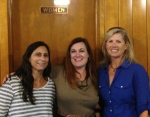 Tanya Anton with event organizers Julia Morgan and Sandi Wise