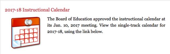 lausd 2017 18 school calendar